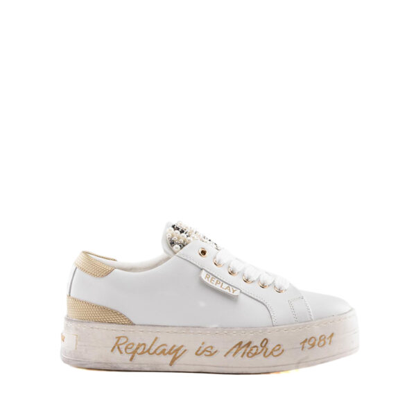 Sneakers Donna in pelle con perle REPLAY RZ860019L